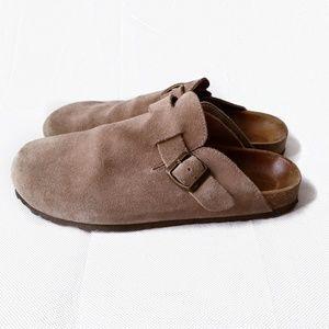 Zara size 11 clog birkenstock style taupe suede